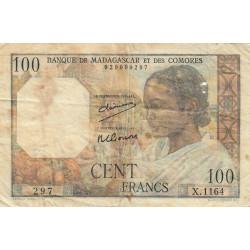 Madagascar - Pick 46a - 100 francs - 1950 - Etat : B-