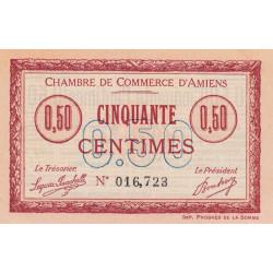 Amiens - Pirot 7-5 - 50 centimes - 1915 - Etat : SPL