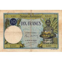 Madagascar - Pick 36b - 10 francs - 1937 - Etat : TB-