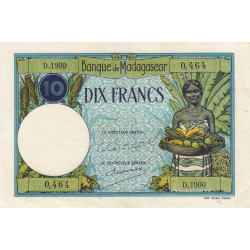 Madagascar - Pick 36c - 10 francs - 1948 - Etat : SUP