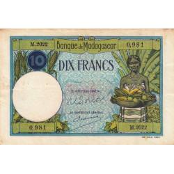 Madagascar - Pick 36c - 10 francs - 1948 - Etat : TB+