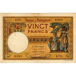 Madagascar - Pick 37c - 20 francs - 1948 - Etat : TB