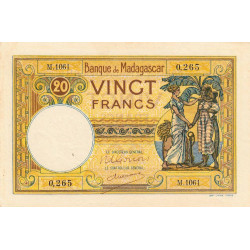 Madagascar - Pick 37c - 20 francs - 1948 - Etat : SUP