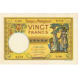 Madagascar - Pick 37c - 20 francs - 1948 - Etat : TTB