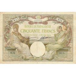 Madagascar - Pick 38a - 50 francs - 1926 - Etat : AB