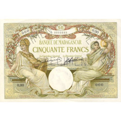 Madagascar - Pick 38as - 50 francs - 1926 - Spécimen - Etat : SPL