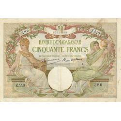 Madagascar - Pick 38b - 50 francs - 1937 - Etat : TB