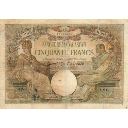 Madagascar - Pick 38c - 50 francs - 1948 - Etat : B