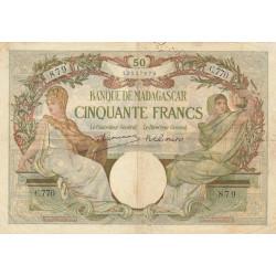 Madagascar - Pick 38c - 50 francs - 1948 - Etat : TB+
