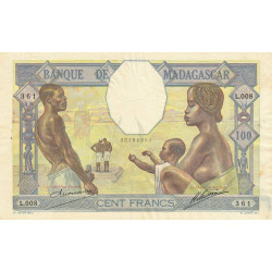 Madagascar - Pick 40a - 100 francs - 1926 - Etat : SUP-