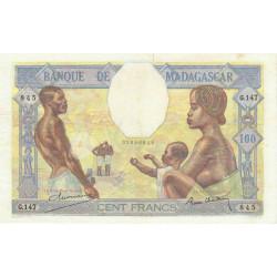 Madagascar - Pick 40b - 100 francs - 1937 - Etat : TTB