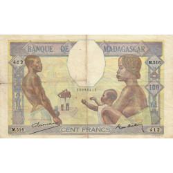 Madagascar - Pick 40b - 100 francs - 1937 - Etat : TB+
