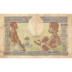 Madagascar - Pick 40b - 100 francs - 1937 - Etat : TB
