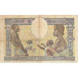 Madagascar - Pick 40b - 100 francs - 1937 - Etat : TB-
