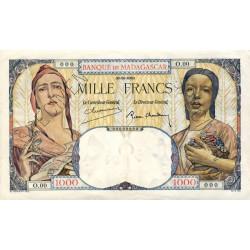Madagascar - Pick 41bs - 1'000 francs - 1937 - Spécimen - Etat : SPL