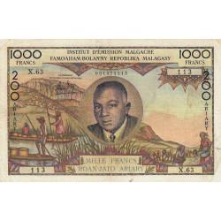 Madagascar - Pick 56b - 1'000 francs - 200 ariary - 1963 - Etat : TB+