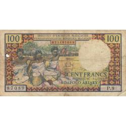 Madagascar - Pick 57a - 100 francs - 20 ariary - 1966 - Etat : B