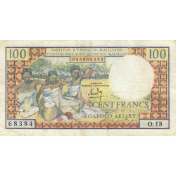 Madagascar - Pick 57a - 100 francs - 20 ariary - 1966 - Etat : TB