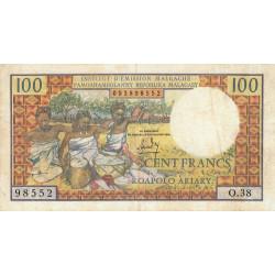 Madagascar - Pick 57a - 100 francs - 20 ariary - 1966 - Etat : TTB-
