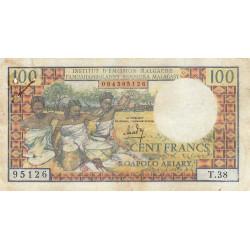 Madagascar - Pick 57a - 100 francs - 20 ariary - 1966 - Etat : TB-