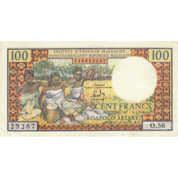 Madagascar - Pick 57a - 100 francs - 20 ariary - 1966 - Etat : SUP-