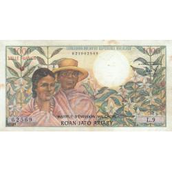 Madagascar - Pick 59 - 1'000 francs - 200 ariary - 1966 - Etat : TTB-