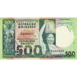 Madagascar - Pick 64 - 500 francs - 100 ariary - 1974 - Etat : TTB
