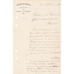 Belfort - Pirot 23 - Lot 2 documents de 1919