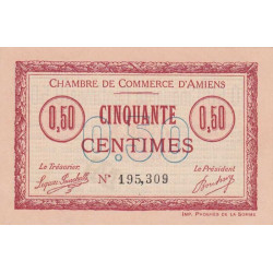 Amiens - Pirot 7-14 - 50 centimes - 1915 - Etat : SPL