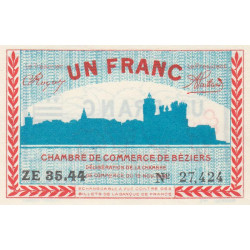 Béziers - Pirot 27-23 - 1 franc - 1918 - Etat : NEUF