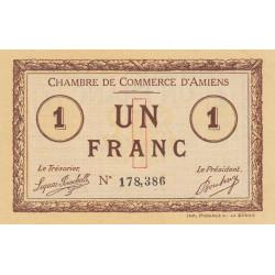 Amiens - Pirot 7-16 variété - 1 franc - 1915 - Etat : SPL