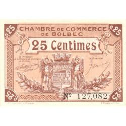 Bolbec - Pirot 29-1 - 25 centimes - 1920 - Etat : SPL+