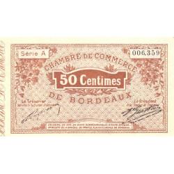 Bordeaux - Pirot 30-1 - 50 centimes - Série A - 1914 - Etat : TTB+