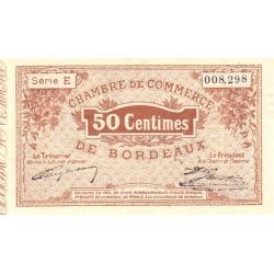 Bordeaux - Pirot 30-1 - 50 centimes - Série E - 1914 - Etat : TTB+