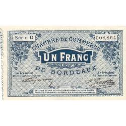 Bordeaux - Pirot 30-2 - 1 franc- Série D - 1914 - Etat : TTB+