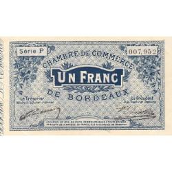 Bordeaux - Pirot 30-2 - 1 franc- Série P - 1914 - Etat : TTB+