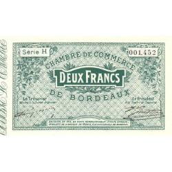 Bordeaux - Pirot 30-3 - 2 francs- Série H - 1914 - Etat : TTB+