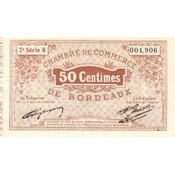 Bordeaux - Pirot 30-4 - 50 centimes - Série B - 1914 - Etat : SUP