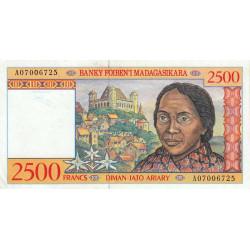 Madagascar - Pick 81 - 2'500 francs - 500 ariary - 1998 - Etat : SPL