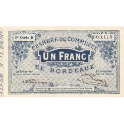 Bordeaux - Pirot 30-6 - 1 franc- Série N - 1914 - Etat : SUP