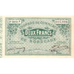 Bordeaux - Pirot 30-9 - 2 francs- Série P - 1914 - Etat : SUP