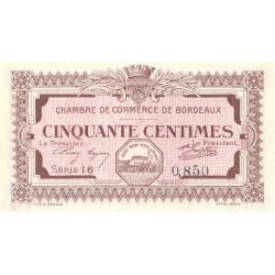 Bordeaux - Pirot 30-11 - 50 centimes - Série 16 - 1917 - Etat : SPL+