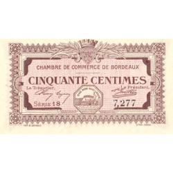 Bordeaux - Pirot 30-11 - 50 centimes - Série 18 - 1917 - Etat : SPL