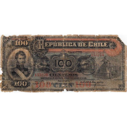 Chili - Pick 26b - 100 pesos - 31/03/1916 - Etat : M