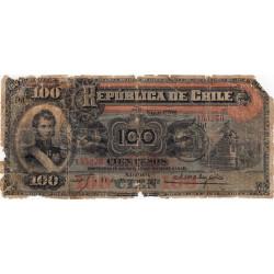 Chili - Pick 26b - 100 pesos - 31/03/1916 - Etat : M