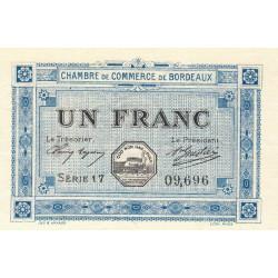 Bordeaux - Pirot 30-14 - 1 franc- Série 17 - 1917 - Etat : SPL
