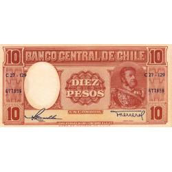 Chili - Pick 120_1 - 10 pesos - 1958 - Etat : NEUF