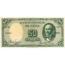 Chili - Pick 126a2 - 50 pesos - 1960 - Etat : TTB+