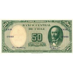 Chili - Pick 126b1 - 50 pesos - 1962 - Etat : NEUF