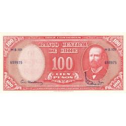 Chili - Pick 127a2 - 100 pesos - 1962 - Etat : NEUF